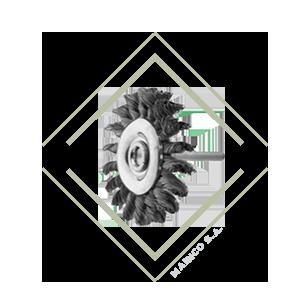 cepillo, vastago, circular, trenzado, varilla, acero, inox, inoxidable, limpieza, soldadura, pintura, oxido, mainco, pferd, aleman, calidad,
