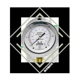 manometro, pfq, industrial, inox, winters, guatemala, mainco, presion, psi, inoxidable, acero, proceso, stabilizador, stabilizr, antivibracion, vibrac