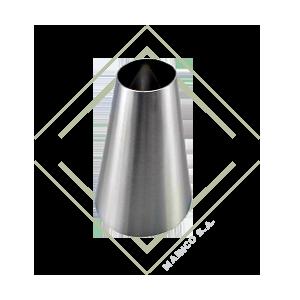 reductor excentrico, reductor exentrico, reductor acero inox, reducidor, inoxidable, reductor para alimentos, reducir tubo, reducidor para tubo