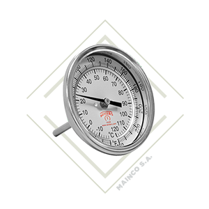 termometro, bimetalico, acero , inox, inoxidable, mainco, guatemala, winters, temperatura, rango, centigrados, farenheit