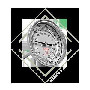 termometro, bimetalico, tbm, inox, inoxidable, temperatura, rango, centigrados, farenheit, mainco, winters, caldera, horno,