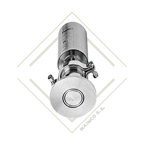 valvula dcx3, l, valvula diversora, valvula acero inox, valvula acero inoxidable, valvula para alimentos, funcionamiento, vavula fondo de tanque