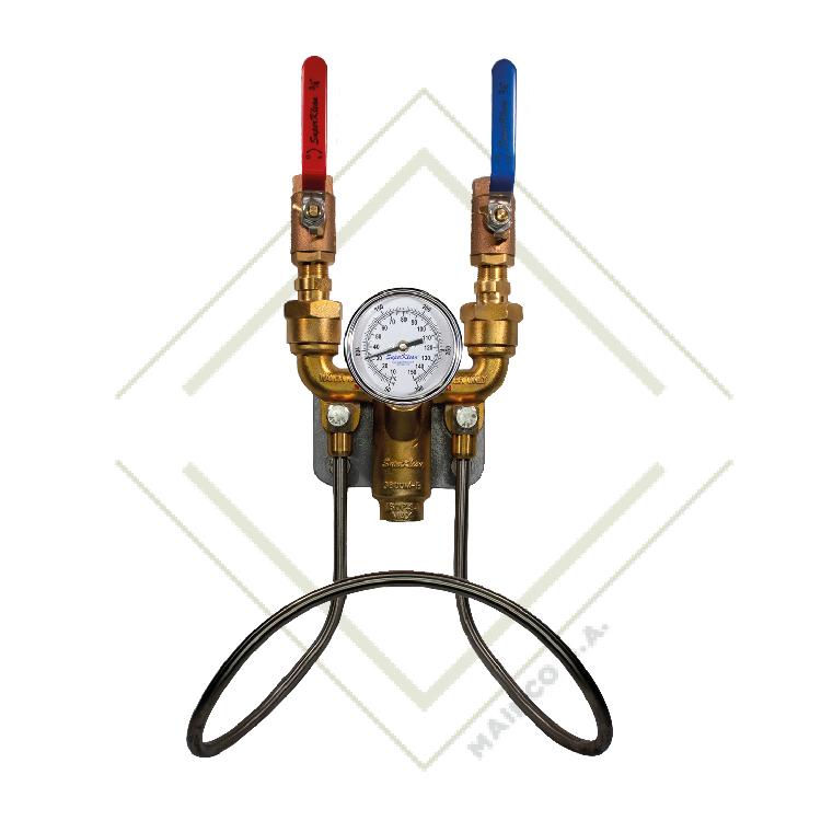 Unidad de mezcla de agua caliente y fría, latón