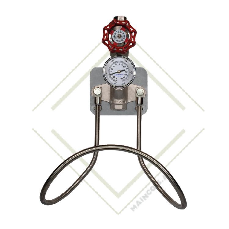 Estación de agua fría o caliente de acero inoxidable serie 304 con una sola válvula esférica