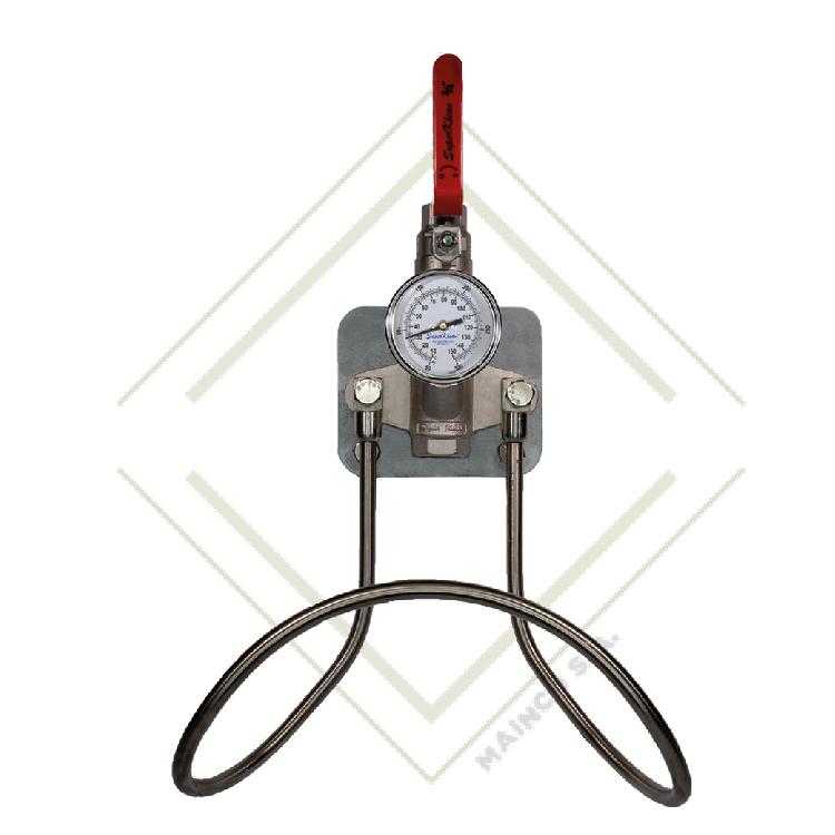 Estación de agua fría o caliente de acero inoxidable serie 304 con una sola válvula de bola