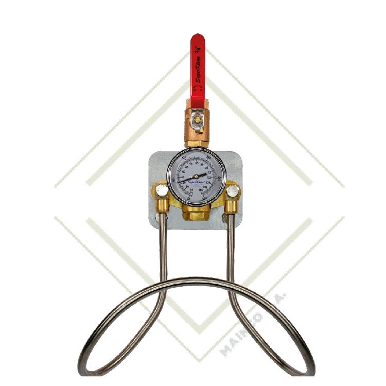 Estación de agua fría o caliente de latón con una sola válvula de bola